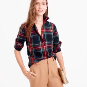  •J. Crew•  Holiday Plaid Button Down